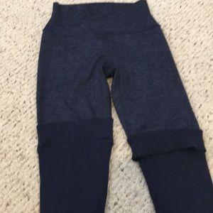 Aerie leg warmer leggings in navy